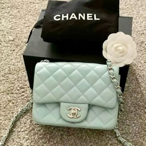 Chanel classic single gap quilted lamb mini